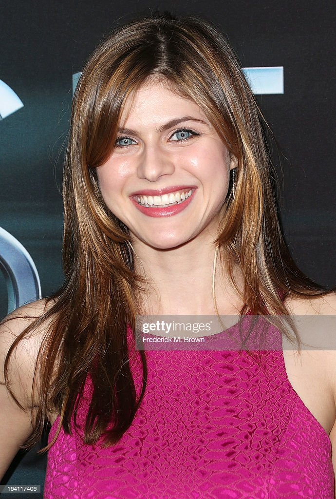 Actress Alexandra Daddario attends the Premiere of Open Roads Films 'The Host' at the ArcLight Cinemas Cinerama Dome on March 19, 2013 in Hollywood, California.