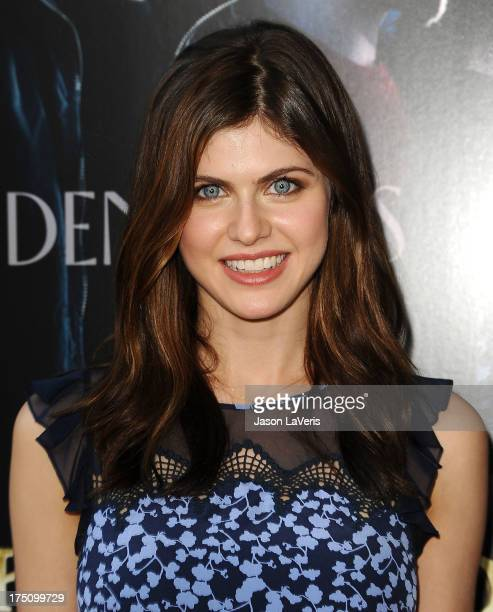 Actress Alexandra Daddario attends the premiere of 'Percy Jackson Sea Of Monsters' at The Americana at Brand on July 31 2013 in Glendale California