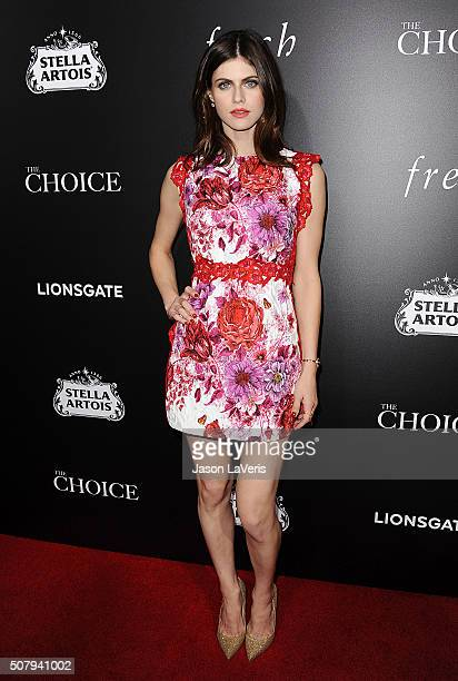 Actress Alexandra Daddario attends the premiere of 'The Choice' at ArcLight Cinemas on February 1 2016 in Hollywood California