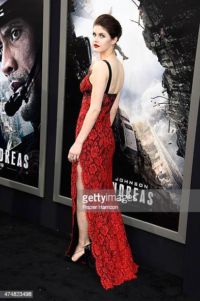 Actress Alexandra Daddario attends the Premiere Of Warner Bros Pictures' 'San Andreas' at TCL Chinese Theatre on May 26 2015 in Hollywood California