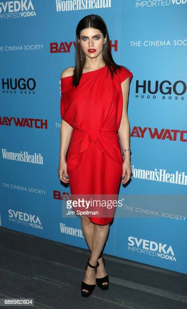 Actress Alexandra Daddario attends the screening of 'Baywatch' hosted by The Cinema Society at Landmark Sunshine Cinema on May 22 2017 in New York...