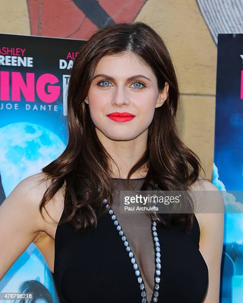 Actress Alexandra Daddario attends the special advance screening of 'Bury The Ex' at American Cinematheque's Egyptian Theatre on June 11 2015 in...