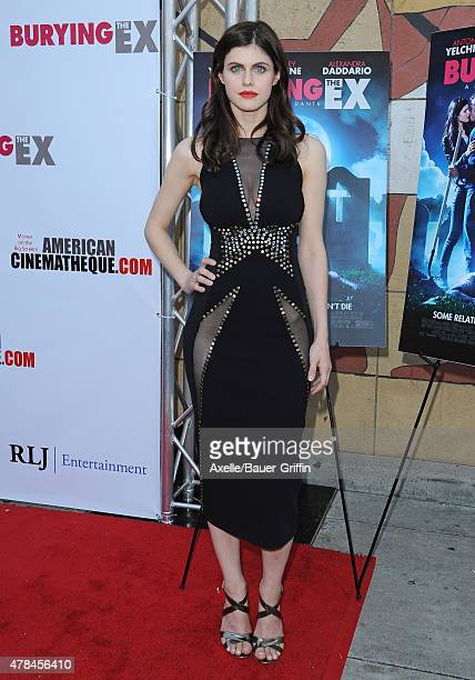 Actress Alexandra Daddario attends the special advance screening of 'Burying The Ex' at American Cinematheque's Egyptian Theatre on June 11 2015 in...