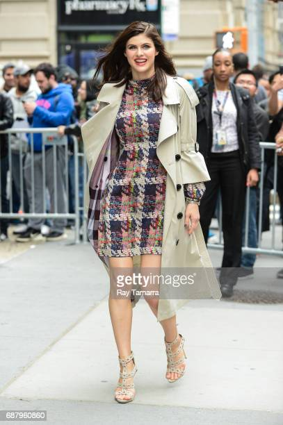 Actress Alexandra Daddario leaves the 'AOL Build' taping at the AOL Studios on May 24 2017 in New York City