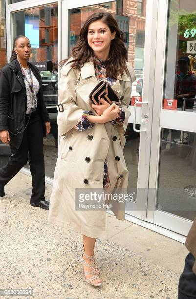 Actress Alexandra Daddario leaves the 'AOL Build' taping at the AOL Studioson May 24 2017 in New York City