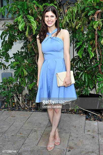 Actress Alexandra Daddario wearing Max Mara attends The Max Mara 2015 Women In Film Face Of The Future event at Chateau Marmont on June 15 2015 in...