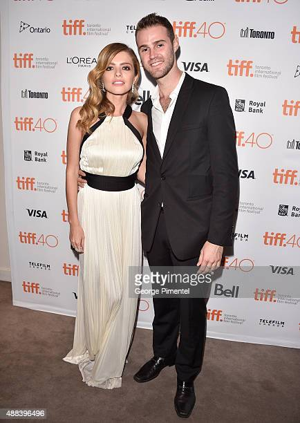 Actress Alexandra Dinu and crew Jeffrey Greenstein attend the 'Septembers of Shiraz' premiere during the 2015 Toronto International Film Festival at...