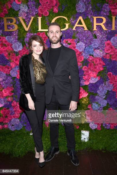 Actress Alexandra Dinu and producer Jeffrey Greenstein attend Bulgari's PreOscar Dinner at Chateau Marmont on February 25 2017 in Hollywood United...