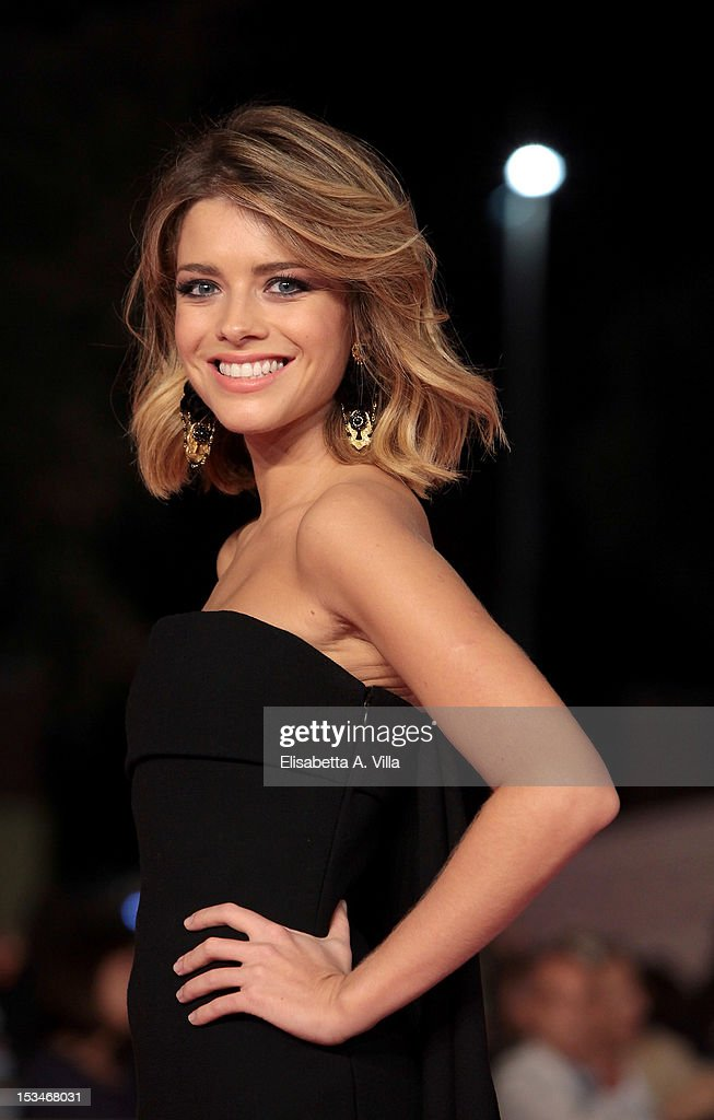 Actress Alexandra Dinu attends the 2012 RomaFictionFest Closing Cerimony at Auditorium Parco della Musica on October 5, 2012 in Rome, Italy.