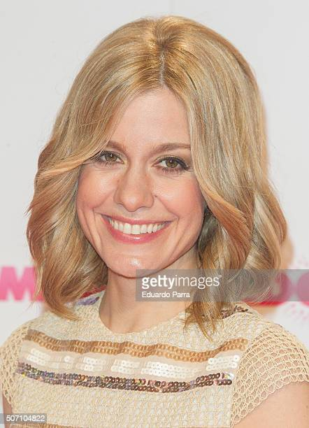 Actress Alexandra Jimenez attends 'Embarazados' premiere at Capitol cinema on January 27 2016 in Madrid Spain