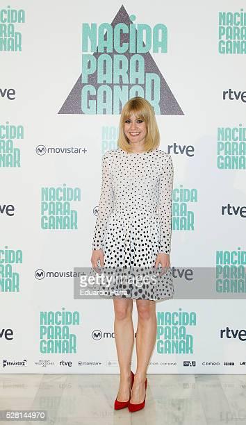 Actress Alexandra Jimenez attends the 'Nacida para ganar' photocall at Eurobuilding hotel on May 04 2016 in Madrid Spain