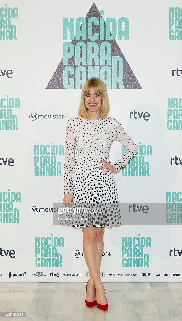 Actress <a gi-track='captionPersonalityLinkClicked' href=/galleries/search?phrase=Alexandra+Jimenez&family=editorial&specificpeople=4571095 ng-click='$event.stopPropagation()'>Alexandra Jimenez</a> attends the 'Nacida para ganar' photocall at Eurobuilding hotel on May 04, 2016 in Madrid, Spain.