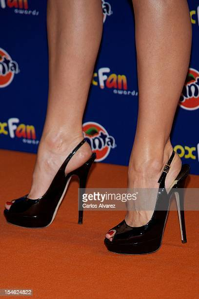 Actress Alexandra Jimenez attends the 'Neox Fan Awards' 2012 photocall at the La Latina Teather on October 23 2012 in Madrid Spain