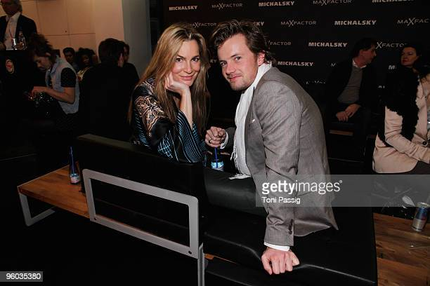 Actress Alexandra Kamp and Michael von Hassel arrive at the Michalsky Style Night during the MercedesBenz Fashion Week Berlin Autumn/Winter 2010 at...