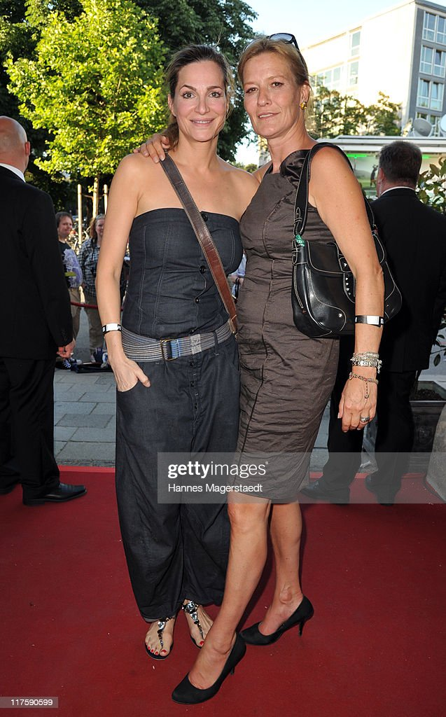 Actress Alexandra Kamp and Suzanne von Borsody attend the 'Bavaria Reception' during the Munich Film Festival at the Kuenstlerhaus on June 28 2011 in...
