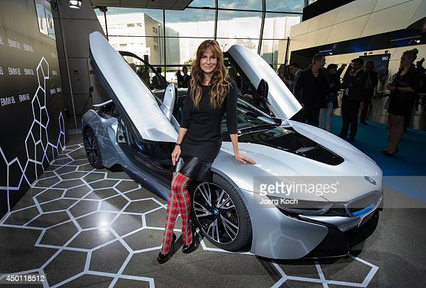 Actress Alexandra Kamp attends the launch of the BMW i8 plugin hybrid sports car at BMW World on June 5 2014 in Munich Germany The BMW i8 is said to...