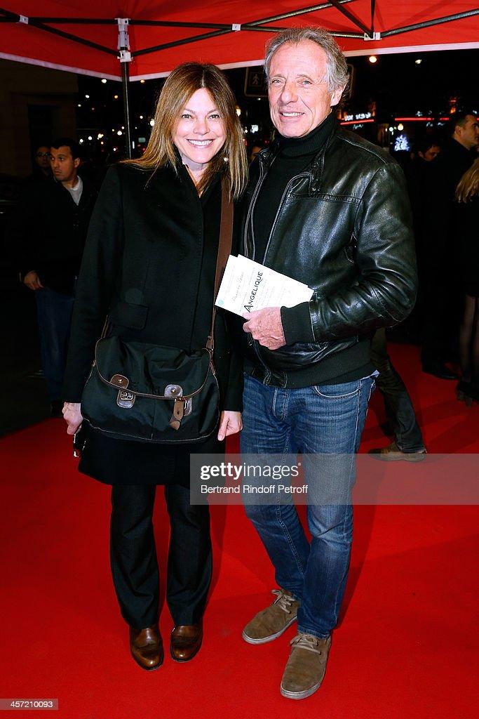 Actress Alexandra Kazan and companion Francois Bernheim attend the 'Angelique' Paris movie premiere at Cinema Gaumont Capucine on December 16, 2013 in Paris, France.