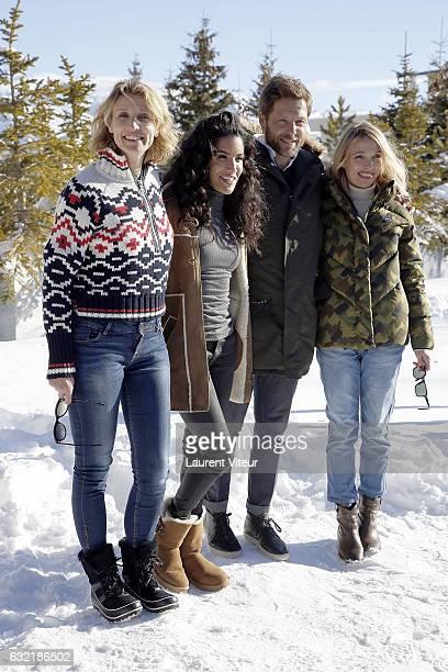 Actress Alexandra Lamy Actress Sabrina Ouazani Actor Jamie Bamber and Actress Anne Marivin attend 'L'Embarras du Choix' Photocall At Hotel Chamois...
