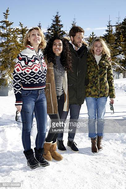Actress Alexandra Lamy Actress Sabrina Ouazani Actor Jamie Bamber and Actress Anne Marivin attend 'L'Embarras du Choix' Photocall At Hotel Chamois...