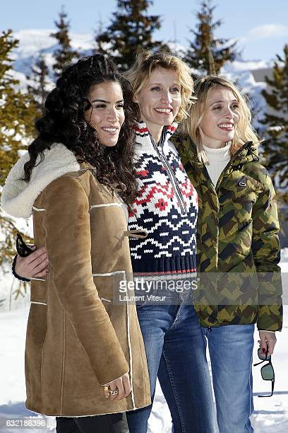 Actress Alexandra Lamy Actress Sabrina Ouazani and Actress Anne Marivin attend 'L'Embarras du Choix' Photocall At Hotel Chamois d'Or on January 20...