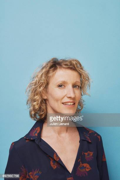 Actress Alexandra Lamy is photographed for Self Assignment on February 2 2017 in Paris France