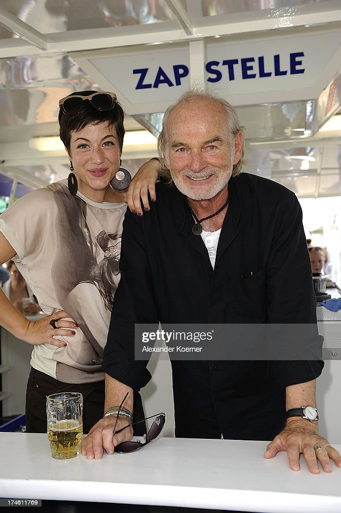 Actress Alexandra M. Horn attends together with actor Claus-Dieter Clausnitzer the 'Rote Rosen Fan-Tag 2013' on July 28, 2013 in Luneburg, Germany. More than 3500 fans of the daily television telenovela 'Rote Rosen' came to see the Studios and to meet their favorite actor.