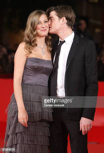 Actress Alexandra Maria Lara and actor Sam Riley attend 'The City Of Your Final Destination' Premiere during day 2 of the 4th Rome International Film...