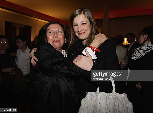 Actress Alexandra Maria Lara and her mother Doina Platareanu attend the after show party to the 'Small World' premiere at Cinema Paris on December 1...