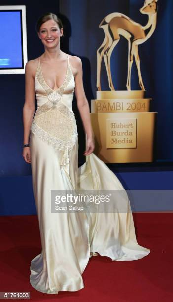 Actress Alexandra Maria Lara arrives at the Bambi Awards 2004 at the Theater im Hafen on November 18 2004 in Hamburg Germany