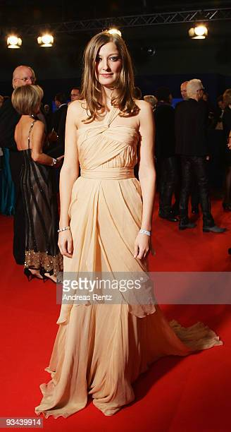 MBER 26 Actress Alexandra Maria Lara arrives to the Bambi Awards 2009 at the Metropolis Hall at the Filmpark Babelsberg on November 26 2009 in...