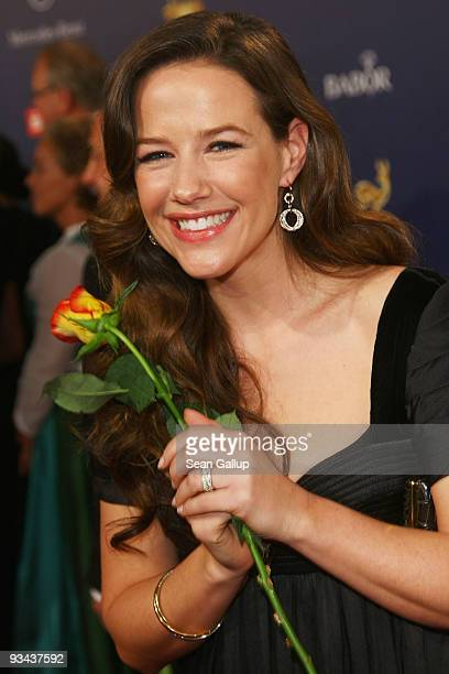 BER 26 Actress Alexandra Neldel arrives to the Bambi Awards 2009 at the Metropolis Hall at the Filmpark Babelsberg on November 26 2009 in Potsdam...