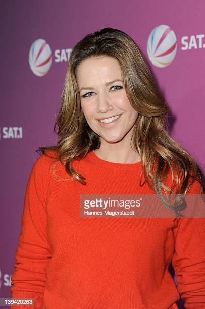 Actress Alexandra Neldel attends 'Die Rache Der Wanderhure' Photocall at the GOP Variete on February 20 2012 in Munich Germany