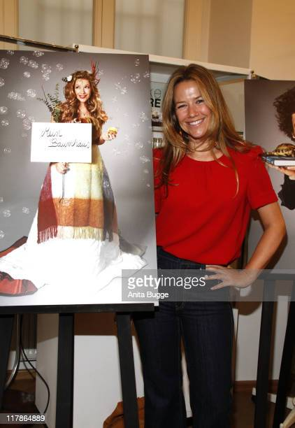 Actress Alexandra Neldel attends the Kiehl's 'Take Care' Charity event at the Berlin Kiehl store on July 1 2011 in Berlin Germany