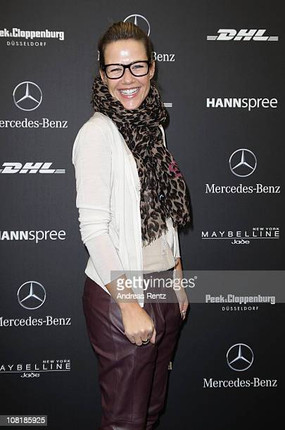 Actress Alexandra Neldel attends the Schumacher Show during the Mercedes Benz Fashion Week Autumn/Winter 2011 at Bebelplatz on January 20 2011 in...