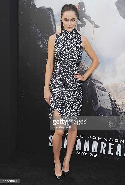 Actress Alexandra Park arrives at the Premiere Of Warner Bros Pictures' 'San Andreas' at TCL Chinese Theatre on May 26 2015 in Hollywood California