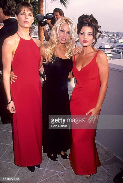 Actress Alexandra Paul actress Pamela Anderson and actress Yasmine Bleeth attend 'Baywatch' 100th Anniversary Celebration on October 22 1994 at the...