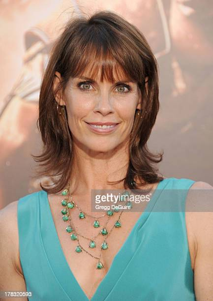 Actress Alexandra Paul arrives at the Los Angeles premiere of 'Riddick' at the Westwood Village Theatre on August 28 2013 in Westwood California