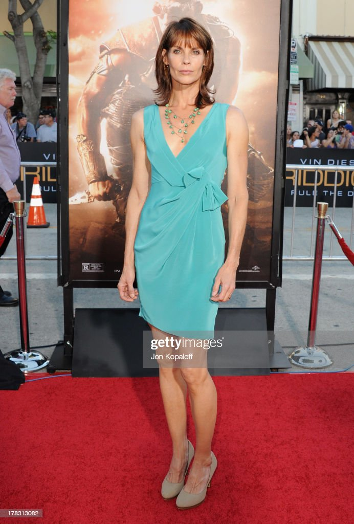 Actress Alexandra Paul arrives at the Los Angeles Premiere 'Riddick' at the Mann Village Theater on August 28, 2013 in Westwood, California.