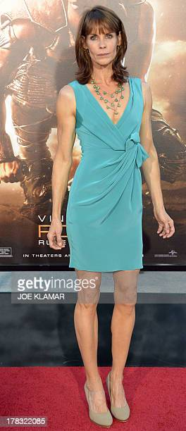 Actress Alexandra Paul attends the 'Riddick' premiere on August 28 2013 in Westwood CaliforniaAFP PHOTO /JOE KLAMAR