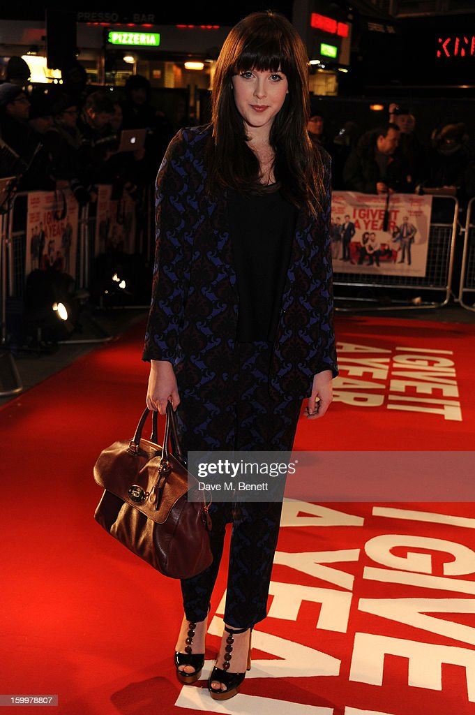 Actress Alexandra Roach attends the European Premiere of 'I Give It A Year' at Vue West End on January 24, 2013 in London, England.