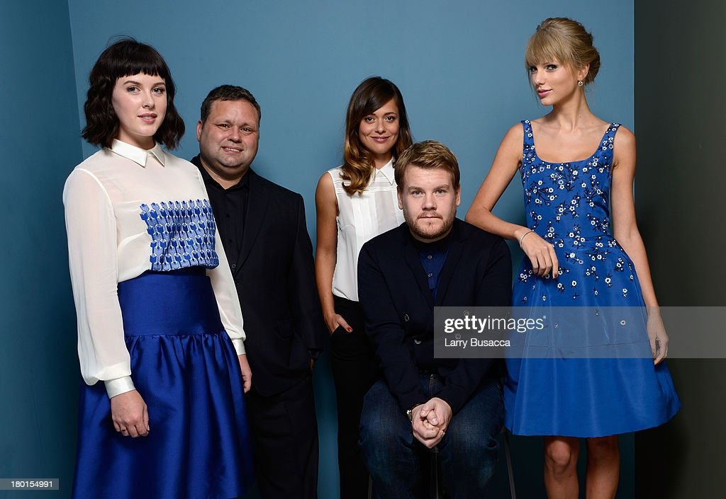 Actress <a gi-track='captionPersonalityLinkClicked' href=/galleries/search?phrase=Alexandra+Roach&family=editorial&specificpeople=8741844 ng-click='$event.stopPropagation()'>Alexandra Roach</a>, singer <a gi-track='captionPersonalityLinkClicked' href=/galleries/search?phrase=Paul+Potts&family=editorial&specificpeople=4352990 ng-click='$event.stopPropagation()'>Paul Potts</a>, actress <a gi-track='captionPersonalityLinkClicked' href=/galleries/search?phrase=Valeria+Bilello&family=editorial&specificpeople=5338724 ng-click='$event.stopPropagation()'>Valeria Bilello</a>, actor <a gi-track='captionPersonalityLinkClicked' href=/galleries/search?phrase=James+Corden&family=editorial&specificpeople=673860 ng-click='$event.stopPropagation()'>James Corden</a> and actress <a gi-track='captionPersonalityLinkClicked' href=/galleries/search?phrase=Taylor+Swift&family=editorial&specificpeople=619504 ng-click='$event.stopPropagation()'>Taylor Swift</a> of 'One Chance' pose at the Guess Portrait Studio during 2013 Toronto International Film Festival on September 9, 2013 in Toronto, Canada.