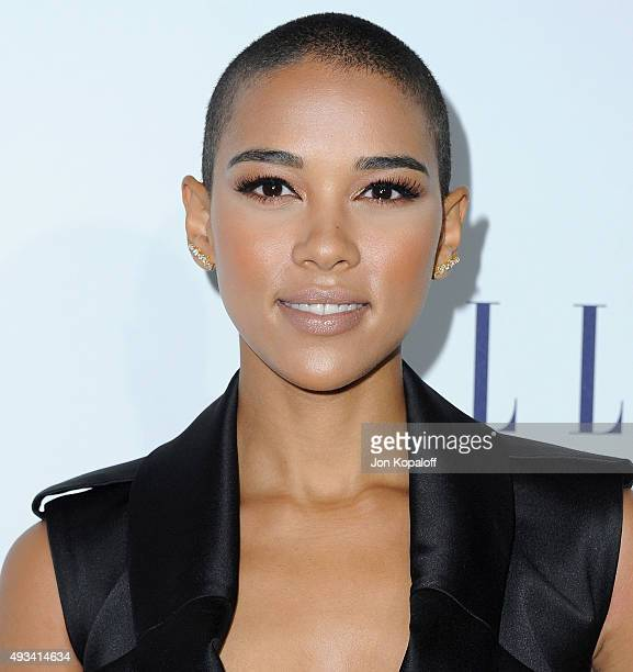 Actress Alexandra Shipp arrives at the 22nd Annual ELLE Women In Hollywood Awards at Four Seasons Hotel Los Angeles at Beverly Hills on October 19...