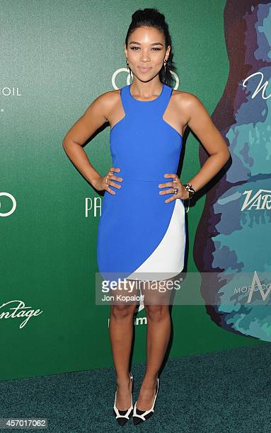Actress Alexandra Shipp arrives at Variety's 2014 Power Of Women Event In LA Presented By Lifetime at the Beverly Wilshire Four Seasons Hotel on...
