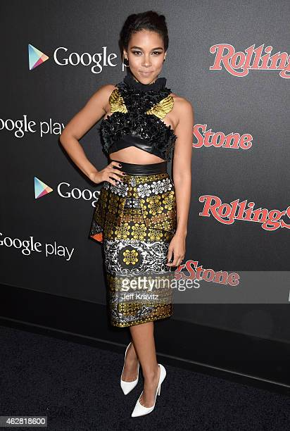 Actress Alexandra Shipp attends Rolling Stone and Google Play event during Grammy Week at the El Rey Theatre on February 5 2015 in Los Angeles...
