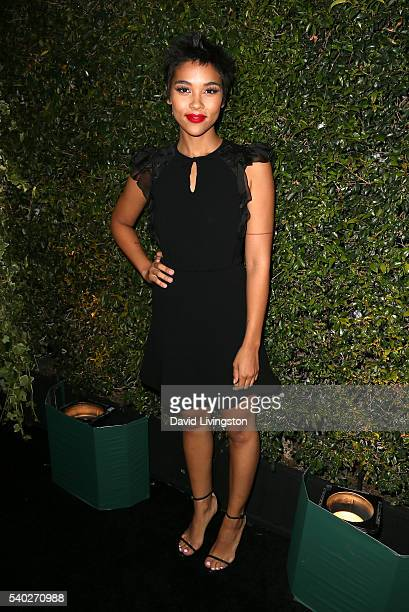 Actress Alexandra Shipp attends the 2016 Women In Film Max Mara Face of the Future celebrating Natalie Dormer at Chateau Marmont on June 14 2016 in...