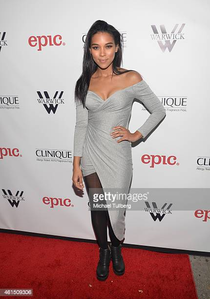 Actress Alexandra Shipp attends the release party for Meghan Trainor's debut album 'Title' at Warwick on January 13 2015 in Hollywood California