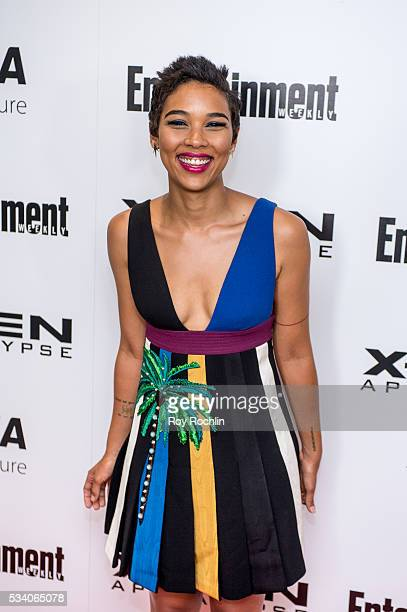 Actress Alexandra Shipp attends the 'XMen Apocalypse' New York Screening at Entertainment Weekly on May 24 2016 in New York City