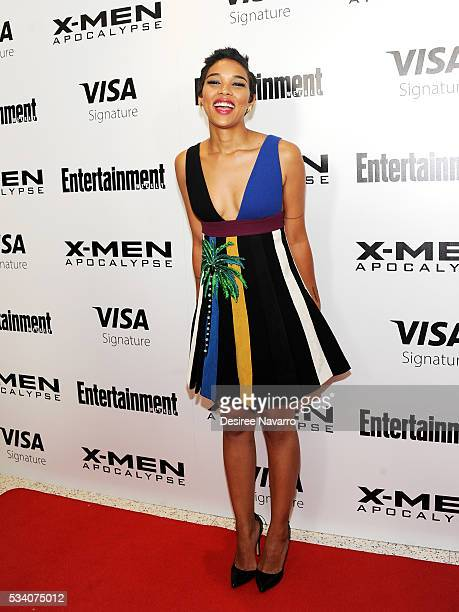 Actress Alexandra Shipp attends 'XMen Apocalypse' New York Screening at Entertainment Weekly on May 24 2016 in New York City
