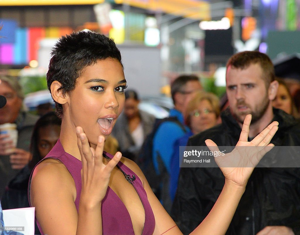 Actress <a gi-track='captionPersonalityLinkClicked' href=/galleries/search?phrase=Alexandra+Shipp&family=editorial&specificpeople=10012876 ng-click='$event.stopPropagation()'>Alexandra Shipp</a> is seen on the set of 'Good Morning America'on May 24, 2016 in New York City.