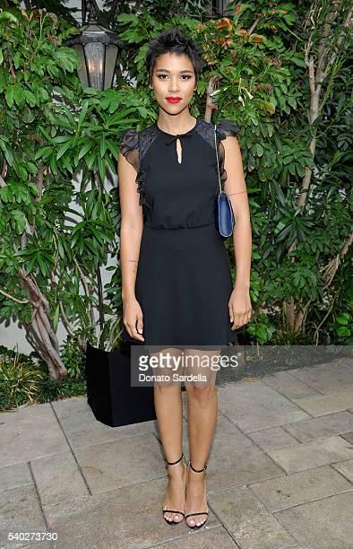 Actress Alexandra Shipp wearing Max Mara attends Max Mara Celebrates Natalie Dormer The 2016 Women In Film Max Mara Face Of The Future at Chateau...
